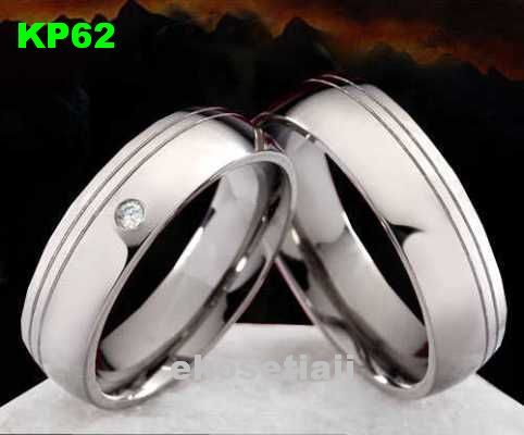 Cincin Kawin Palladium simple KP62